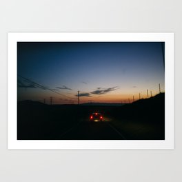 The Road Home - Tracy, CA Art Print