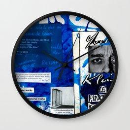 Yves Klein Wall Clock