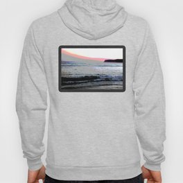 Coronado Island California beach at sunset pastel colors Hoody