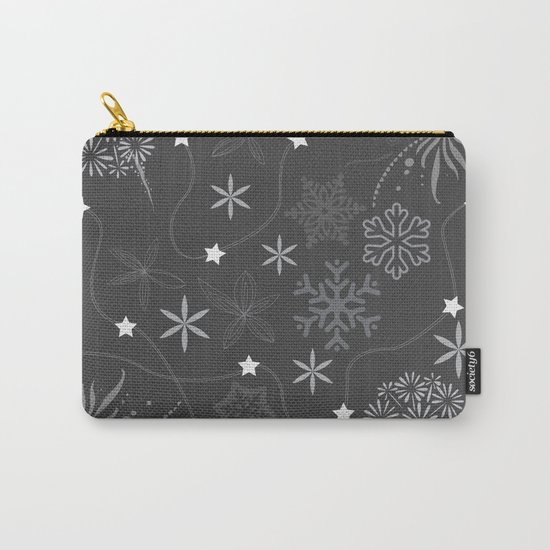 Stars on a string with snowflake and fireworks Carry-All Pouch