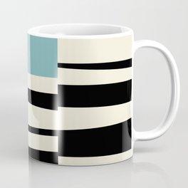 MCC Oddities I - Mid Century Modern Geometric Abstract - Blue Orange Yellow Coffee Mug