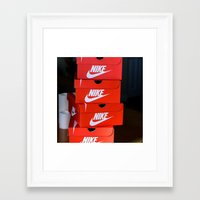 nike Framed Art Prints featuring Nike by I Love Decor