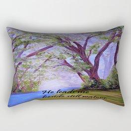 Beside Still Waters Rectangular Pillow