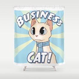 Business Cat! Shower Curtain