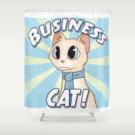 Business Cat! Shower Curtain