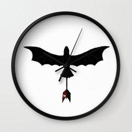 Black Toothless Wall Clock