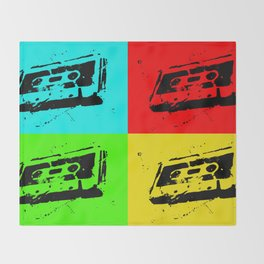 Cassettes Square Throw Blanket