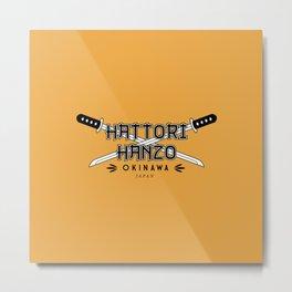 Hattori Hanzo Steel Metal Print
