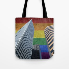 Houston LGBTQ Pride Skyline Tote Bag