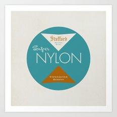"""Vintage Typewriter Tin Lids Series: """"Super Nylon"""" Art Print"""