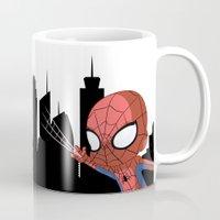 chibi Mugs featuring Chibi Spider by Nozubozu