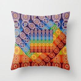 7 CHAKRA SYMBOLS OF HEALING ART #2 Throw Pillow
