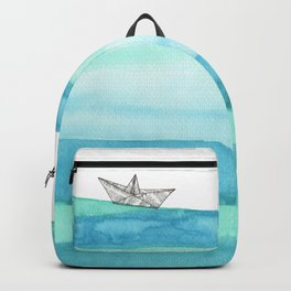 In the middle of the ocean Backpack