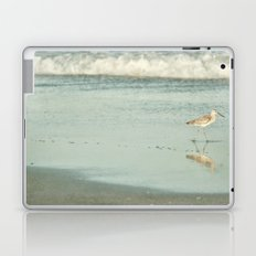 Exit Stage Right -- Willet Foraging Shallow Surf at the Beach Laptop & iPad Skin