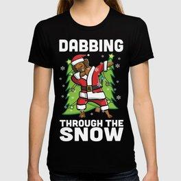 Rhodesian Ridgeback Dabbing Through The Snow Christmas T-shirt
