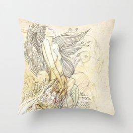 sonho dourado Throw Pillow