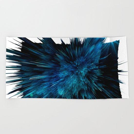 Blue art Beach Towel