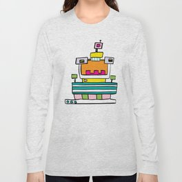 Big Smile Robot Long Sleeve T-shirt