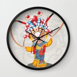 Beijing Opera Character HuSanNiang Wall Clock