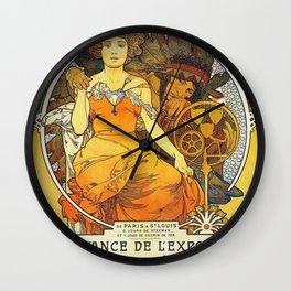 Alphonse Mucha World's Fair St Louis Missouri 1904 Wall Clock