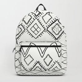 Beni Moroccan Print in Cream and Black Backpack