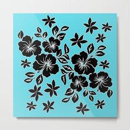 Lilikoi Hibiscus Hawaiian Hula Pareau Design Metal Print