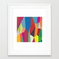 dots Framed Art Prints featuring Dots by Joe Van Wetering