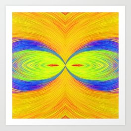 Wacky and Wild Big Eyes by annmariescreations Art Print