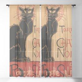 Tournée du Chat Noir 1896 de Rodolphe Salis by Théophile Steinlen (Tour of Rodolphe Salis' Chat Noir Sheer Curtain