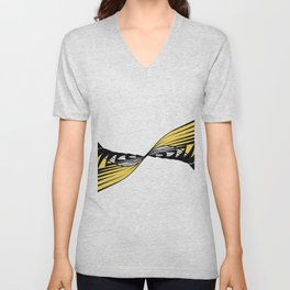 Whirlpool inspired by nature- Wave disturbance Unisex V-Neck