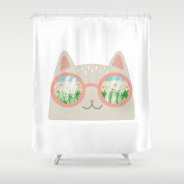 va-CAT-ion Shower Curtain