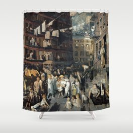 George Bellows - Cliff Dwellers Shower Curtain