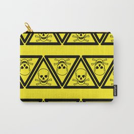 Hazard Pattern Carry-All Pouch