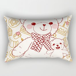 The Adventures of Bear and Baby Bear-Pastry Rectangular Pillow