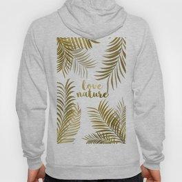 Golden Palm Leaves Hoody