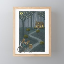 Midnight Delivery Framed Mini Art Print