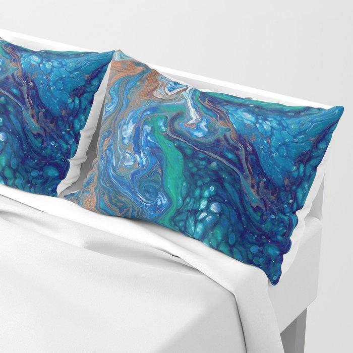 Mermaid Marble Pillow Sham