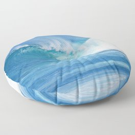 Turquoise Ocean Floor Pillow