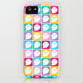 Colourful Little Ghosts iPhone Case