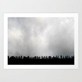 Stabbing at the Sky Art Print