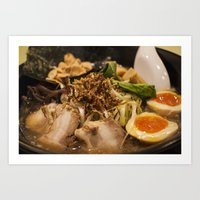 ramen Art Prints featuring Ramen by Yannik Meka