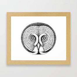 Great gray owl Framed Art Print