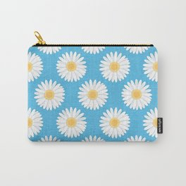 Spring Daisies_Blue Sky Carry-All Pouch