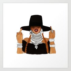 Queen Bey Formation Lemonade Art Print