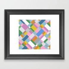 Grey Pink Map 45 Framed Art Print