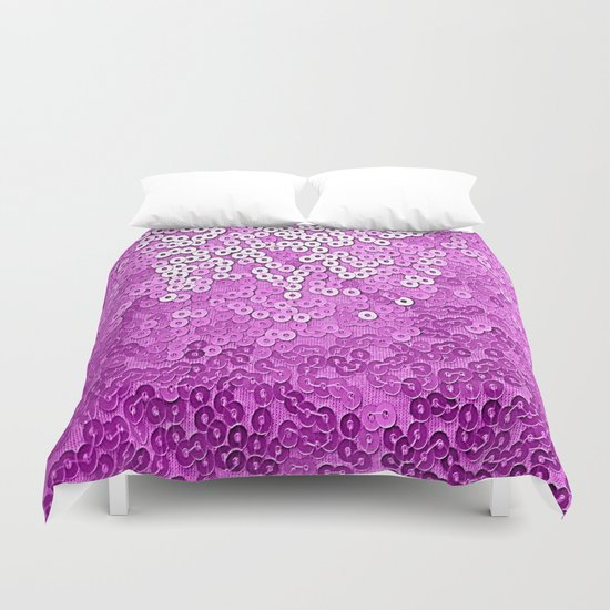 Fun Purple Sequins  Duvet Cover