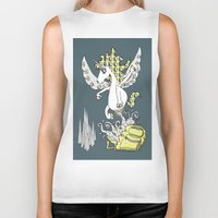 backpack Biker Tanks featuring Magical Mystery Backpack by Amy Gale