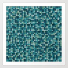 PAPER PIXEL / science fiction Art Print