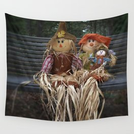Scarecrow Family Wall Tapestry