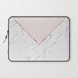 Peony blush geometric marble Laptop Sleeve